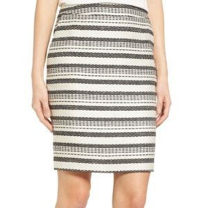 Halogen Striped Tweed Pencil Skirt Size 6